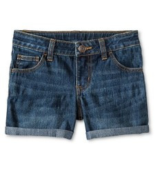 Cherokee Girls Jeans Short - Dark Medium Blue - Size: S(6/6X)