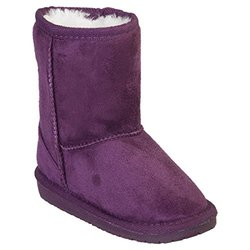 Microfiber Sheepdawg Boots: Plum/toddler 4-5