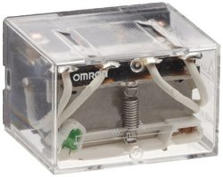 Omron LY3N AC200/220 General Purpose Relay, LED Indicator Type, Plug-In/Solder Terminal, Standard Bracket Mounting, Single Contact, Triple Pole Double Throw Contacts, 10.5 to 11.6 mA at 50 Hz and 9.0 to 9.9 mA at 60 Hz Rated Load Current, 200 to 220 VAC R