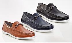 Men's Brad Slip On Loafer Boat Shoes: Black/size 12