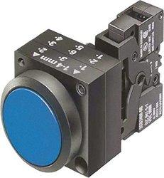 Illuminated Push Button, 22mm, Blue