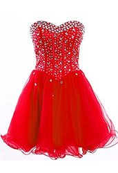 Fashion Plaza Strapless Homecoming Dress - Red - Size: 10