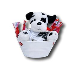 "Puppy Love Twizzler 21.75"" x 2"" Photo Coaster Gift Basket Bundle - 6.35oz"