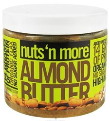 Nuts N More - Almond Butter 16 oz - High in Fiber