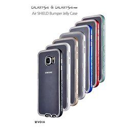 VOIA Air Shield Bumper Jelly Case for Galaxy S6 Edge - Retail Packaging - Red