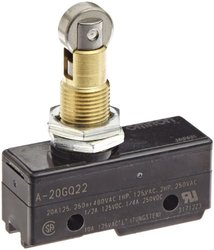 Omron A-20GQ22 General Purpose Basic Switch Panel Mount Roller Plunger