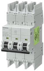 Siemens 5SJ43308HG42 Miniature Circuit Breaker, UL 489 Rated, 3 Pole Breaker, 30 Ampere Maximum, Tripping Characteristic D, DIN Rail Mounted, Type NSJ, 480Y/277 VAC, 125 VDC