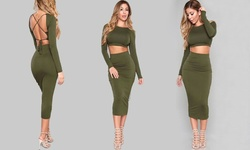 Khloe Dress - Green - Size: Large