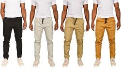 Men's True Rock Basic Twill Jogger - Black - Size: Large