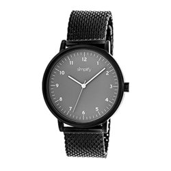 Simplify The Men's Watch: 3206/Black Band-grey Dial