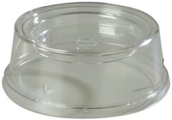 "Carlisle 196007 Polycarbonate Plate and Bowl Cover, 9 x 3-13/32"", Clear (Case of 12)"