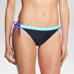 Mossimo Women's Color Block String Bikini Bottom - Black - Size: M