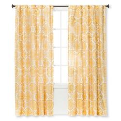 "Sabrina Soto 54""x84"" Kuna Curtain Panel - Yellow/White"