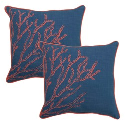 "Threshold 18"" Outdoor Toss Pillow - Coral"