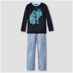 Cat & Jack Boys' Pajama Set - Navy - Size: Medium