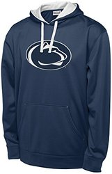 NCAA Penn State Nittany Lions Men's T-Formation 2 Long Sleeve Hooded Fleece Shirt, Small, Navy