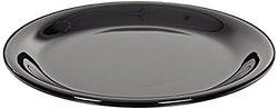 "Carlisle 3300603 Sierrus Narrow Rim Melamine Salad Plates, 7.25"", Black (Pack of 48)"