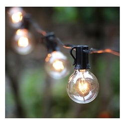50ft G40 Globe String Lights With Bulbs-ul Listd For Indoor/outdoor Commercial Decor