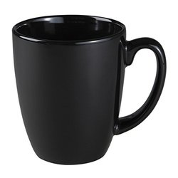 Livingware 11 oz. Mug Black Set of 2, Cinnamon