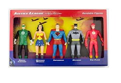DC Comics Justice League Frontier Bendable 5 Action Figures Superhero Set 703017