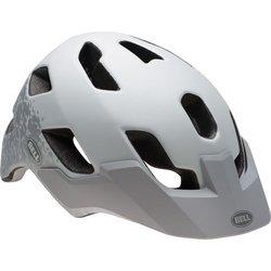 Bell Stoker Bike Helmet - Matte White/silver Braille Small