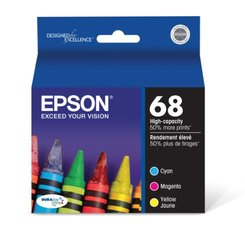 Epson DURABrite Inkjet Cartridge Color Pack - Cyan/Magenta/Yellow T068520