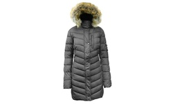 Spire by Galaxy Men's Quilted & Padded Bubble Jacket - GunMetal - Size: L