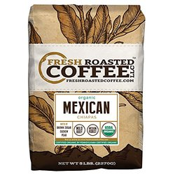 Mexican Chiapas Organic Coffee- Whole Bean - Fresh Roasted Coffee - 5lbs