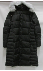 Womens Long Bubble Parka Jacket W/detachable Hood - Black - Size: 3XL