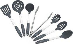 Kuuk Kitchen Utensil Set - BPA Free - Stainless Steel & Silicone - 7 Pieces
