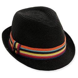 Sun N' Sand Unisex Osumare Panama Fedora Sun Hat - Black - Size: One