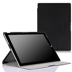 MoKo Microsoft Surface Pro 3 Case - Ultra Slim Lightweight Shell Stand Cover Case for Microsoft Surface Pro 3 12 Inch Tablet, BLACK