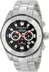 Akribos XXIV Men's Chronograph stainless steel Watch AKGP656SS