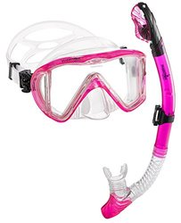 Phantom Aquatics Signature Master View Mask Dry Snorkel Set - Pink
