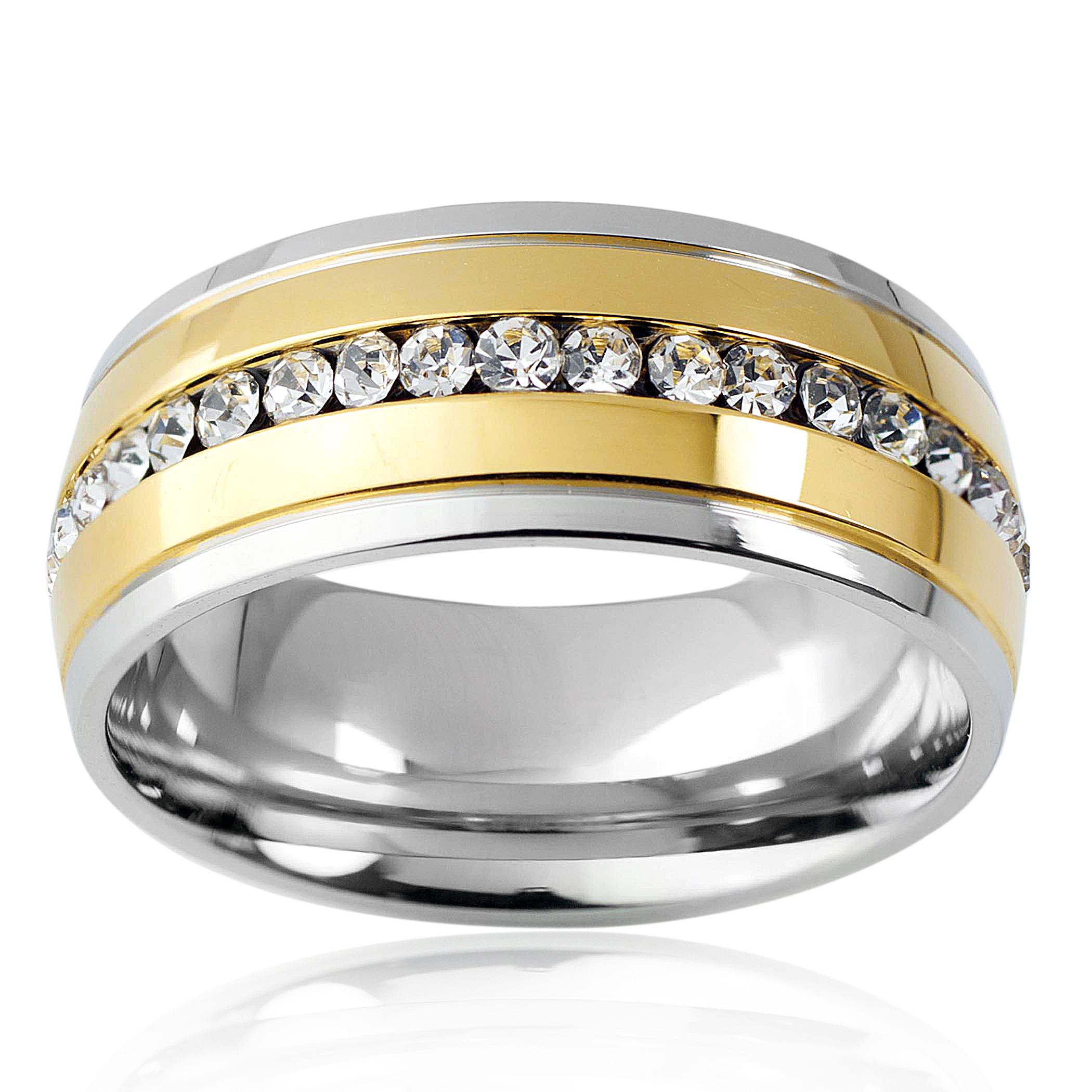 eternity gold d white bands band ring product number samuel webstore cubic h zirconia