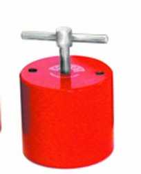 """Eclipse Magnetics E941 Magnetic Holdfast, Round Shape, 194 lb. Pull Capacity, 2.76"""" Diameter x 2.5"""" Height, Fixing Holes PCD 2"""""""