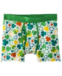 Mossimo Men_s Floral Print Clover Boxer Brief - Multi - Size: 40