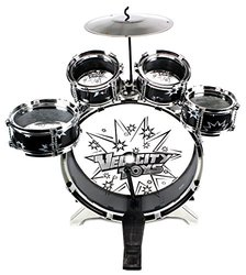 Velocity Toystm Kid's Musical Drum Play Set W/ 6 Drums - Black (11-piece)