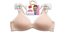 Hanes H137 Girls' Molded Wire Free Bra - 2 Pack - White/Pink - 36