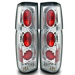 86-97 Nissan Hardbody Altezza Tail Light - Chrome / Clear R007-C Pair