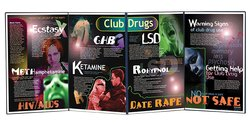 "Health Edco Club Drugs Folding Display - Size: 58"" X 22-1/2"""