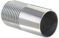 "Dixon Zinc Plated Steel Shank Water Fitting - 4"" Hose ID Barbed"