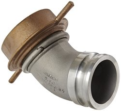 "Dixon Aluminum Cam and Groove Hose Fitting - 4"" 45 Degree Plug"