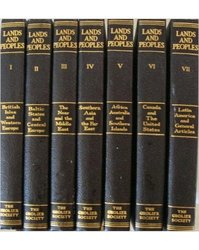 Grolier Society Inc Lands and Peoples World Full Set Volumes - Hardcover