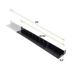 NavePoint Rack Mount Shelf Rail for Dell IBM HP Compaq - Size: Full Depth