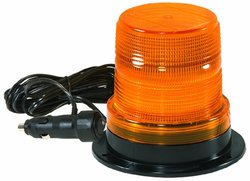 """Checkers SL.208.SA.R Polycarbonate Micro Strobe Lights with Standard Mount and 12"""" Pigtails, Red Lens, 4.6"""" Height"""