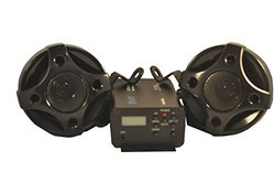 "Shark Shkr3080b-k 250w Motorcycle Snowmobile Audio System W ' 3"" Speakers Black"