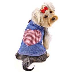 Klippo Checkered Country Dress - Denim - Size: Medium