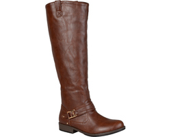 Journee Women's Extra Wide Wide-Calf Riding Boots - Brown - Size: 8