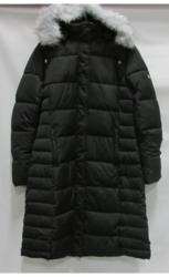 Women's Long Bubble Parka Jacket with Detachable Hood - Black - Size: M
